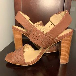 Kate Spade Block Heel with laser cut detail
